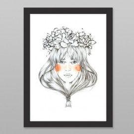 Bouquet Art Print by Chloe Ruby NZ Art Prints, Design Prints, Posters & NZ Design Gifts | endemicworld