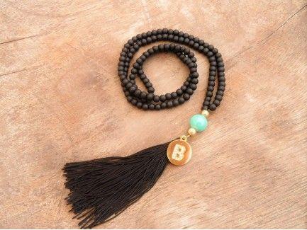 Monogram Beaded Necklace