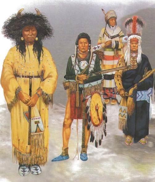 Рисунок национального костюма индейцев