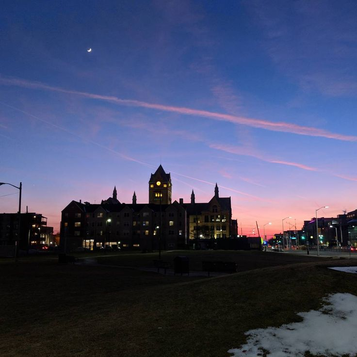 """736 Likes, 6 Comments - Wayne State University (@waynestate) on Instagram: """"Photo of the Day: """"Painted skies behind Old Main"""" Submitted by Omar Abdel-Baqui Share your pics…"""""""
