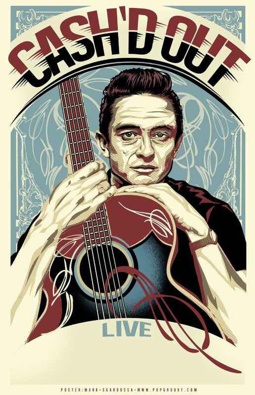 Johnny Cash - Cash'd Out - Mini Print