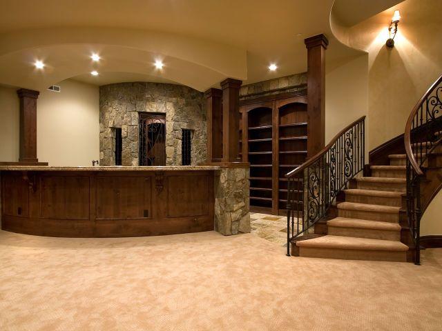 Lighting Basement Washroom Stairs: 29 Best Images About Basement Bar Ideas On Pinterest