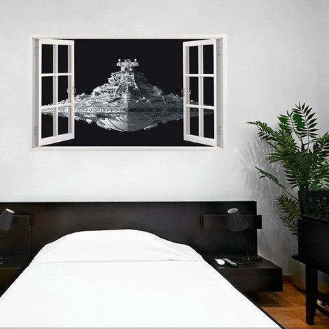 Star Wars Space Ship Wall Sticker - Lafy Home