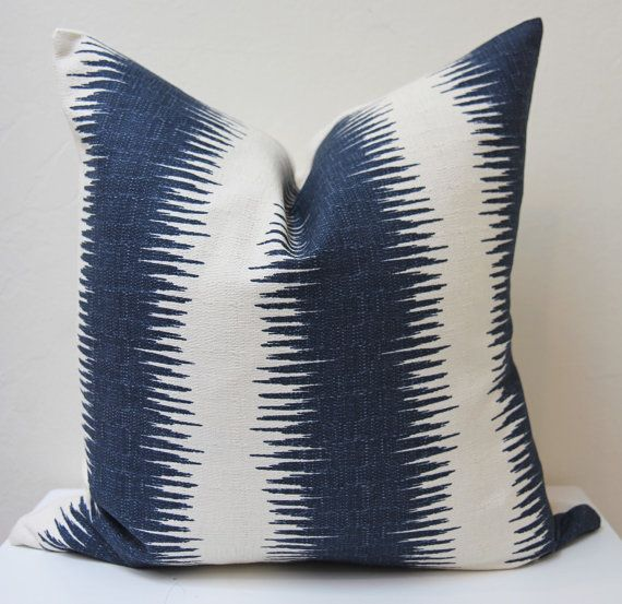 Navy Pillow Cover Peter Dunham inspired by janamachadointeriors