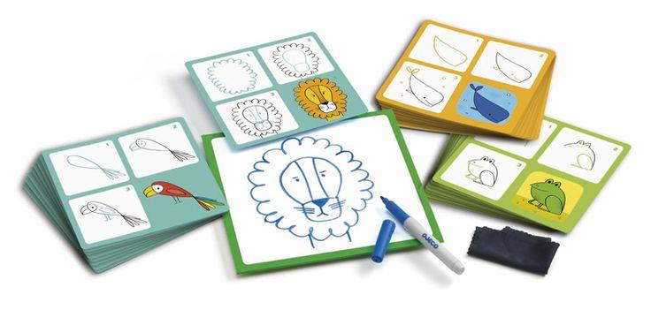 Lépésről lépésre- rajzolni tanulok-Állatos (Djeco Step by Step) | Pandatanoda.hu Játék webáruház