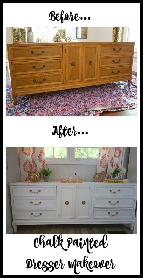 painted dresser makeover in ascp pure white projects to try rh pinterest com