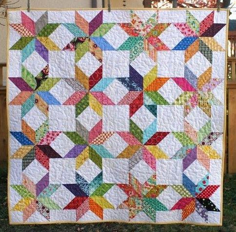 Quilt Patterns Quarter Square Triangles : 17 Best images about Ideas for My New Bed Quilt on Pinterest Triangle quilts, Patterns and ...