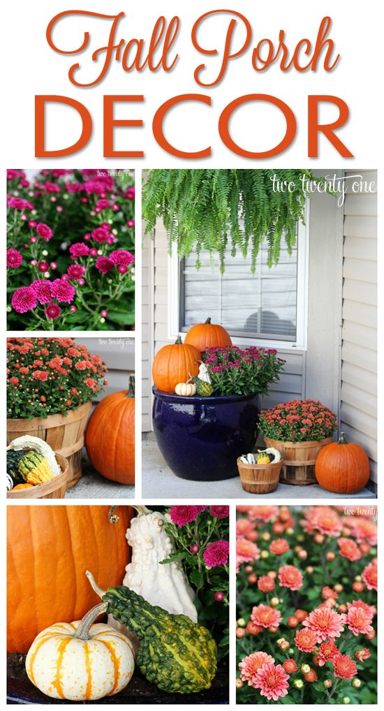 Fall Front Porch Decor-- easy and only $25!