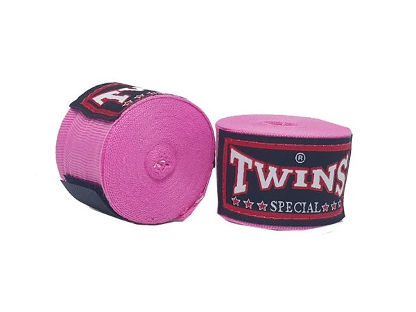 Twins Kids Muay Thai Hand Wraps : Pink