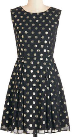 Love this black polka dot dress