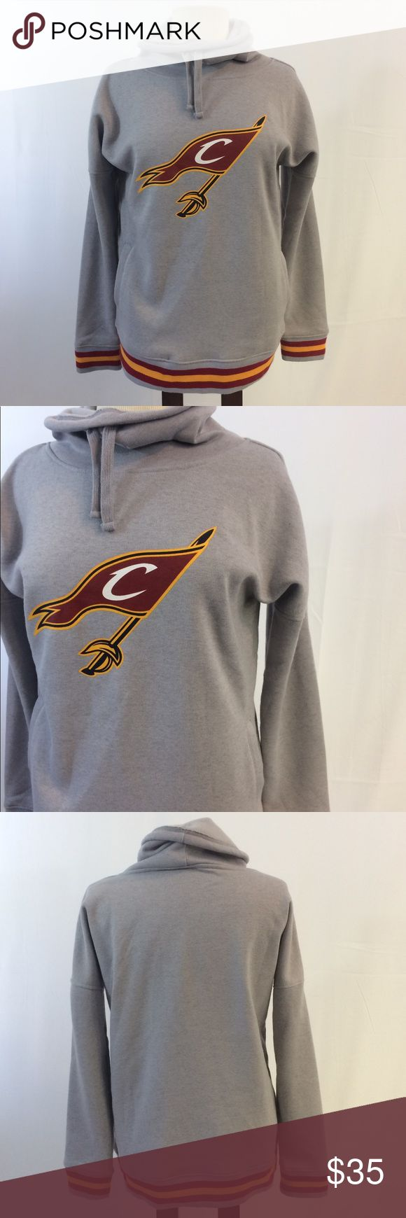 "[Cleveland Cavaliers NBA] M Sweatshirt Cle Cavs -Size medium -Cleveland Cavaliers Logo -Oversized turtle neck sweatshirt -100% polyester -Soft inside   Measurements:  Pit to pit 21"" Waist 19"" Sleeve length 18"" Length 25""  We are always open to reasonable offers on our entire closet! NBA Tops Sweatshirts & Hoodies"