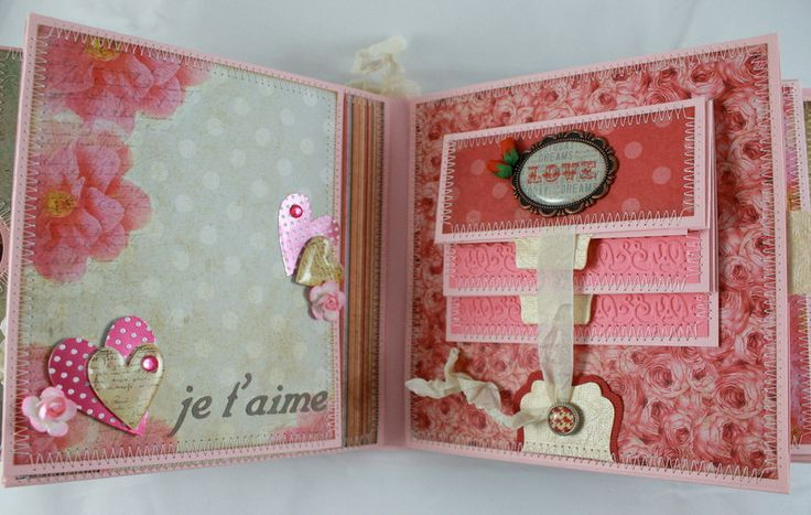 6x6 JE T' ADORE Scrapbook Mini-Album PDF Tutorial by SoMuchScrap
