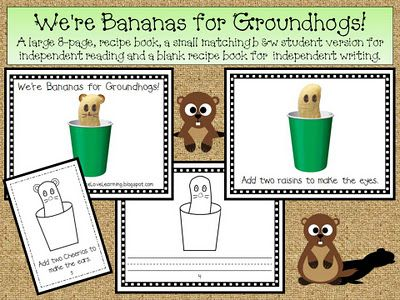 We're Bananas for Groundhogs freebie packet and book