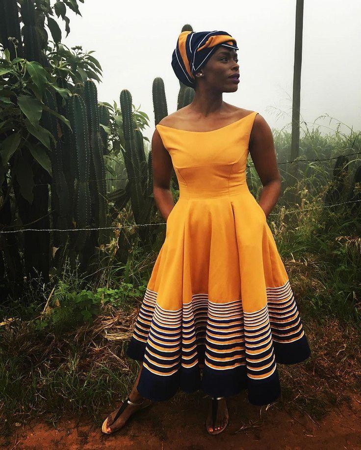 Other ways Unathi has rocked the beautiful dress.