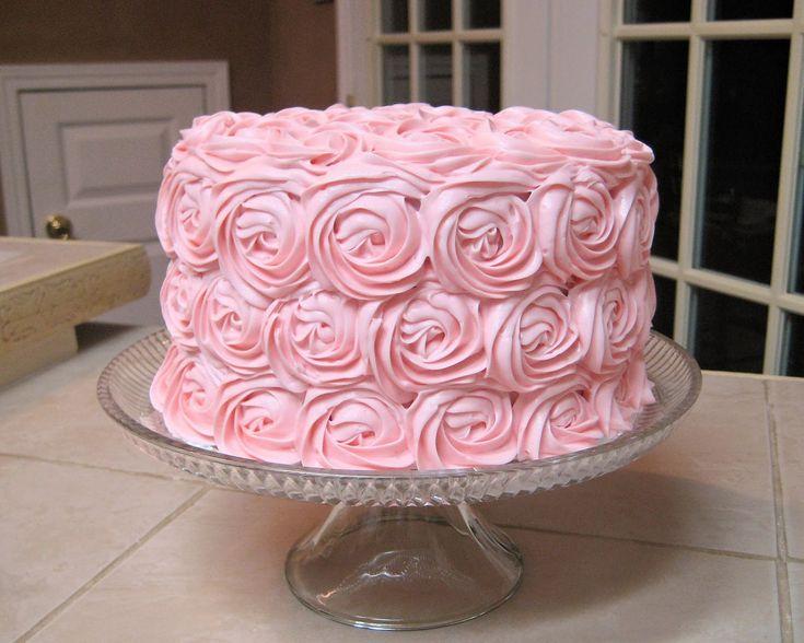 My Cake Corner: Shabby Chic Baby Shower Pink Rose Cake and Teabag ...