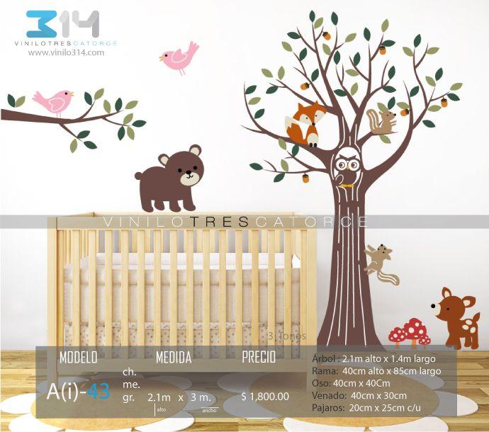 17 mejores im genes sobre vinilos decorativos arboles for Pegatinas pared arbol infantil