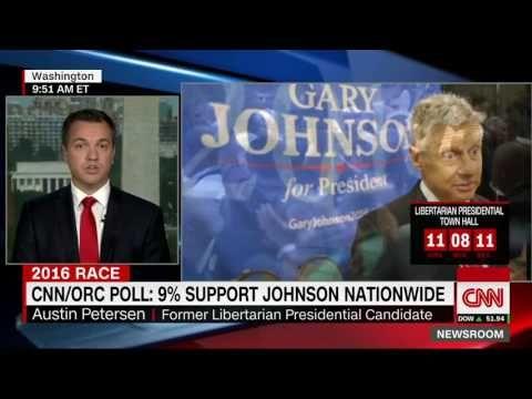 Austin Petersen on CNN Selling the Libertarian Platform & Gov. Gary Johnson