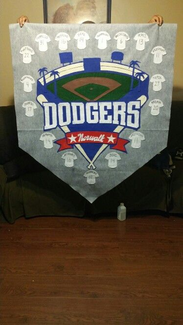 Homemade baseball  banners