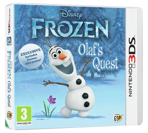 Buy Frozen: Olaf's Quest Nintendo 3DS Game at Argos.co.uk, visit Argos.co.uk to shop online for Nintendo 3DS, 2DS and DS games, Nintendo 3DS, 2DS and DS, Video games and consoles, Technology