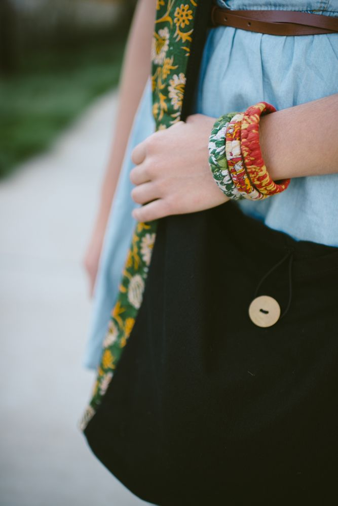 Freeset's braided sari bangles have been a roaring success. Available in 5 shade ranges - red, blue, green, yellow/orange and pink.   Photo by Calvina Photography