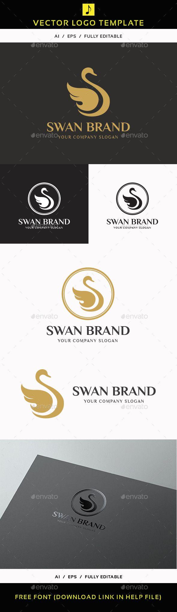 Swan Brand Logo Design Template Vector logotype