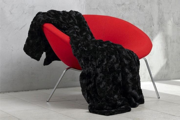 CARMA imitation fur Lamm black