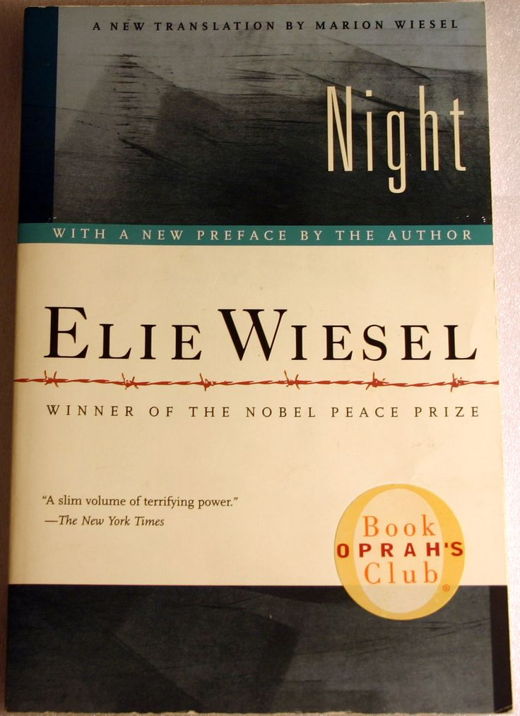 an analysis of elie wiesels book night Night elie wiesel table of contents plot overview summary & analysis foreword section one section two section three what book title describes your love.