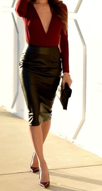 27 Cheap Pencil Skirt Outfit Ideas For Fall And Winter