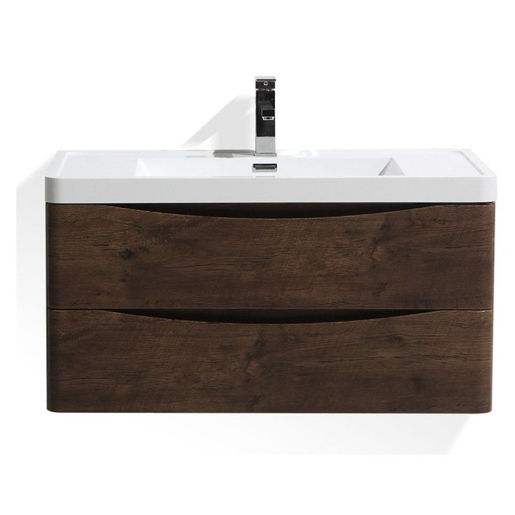 Wall Mounted Single Sink Bathroom Vanity with