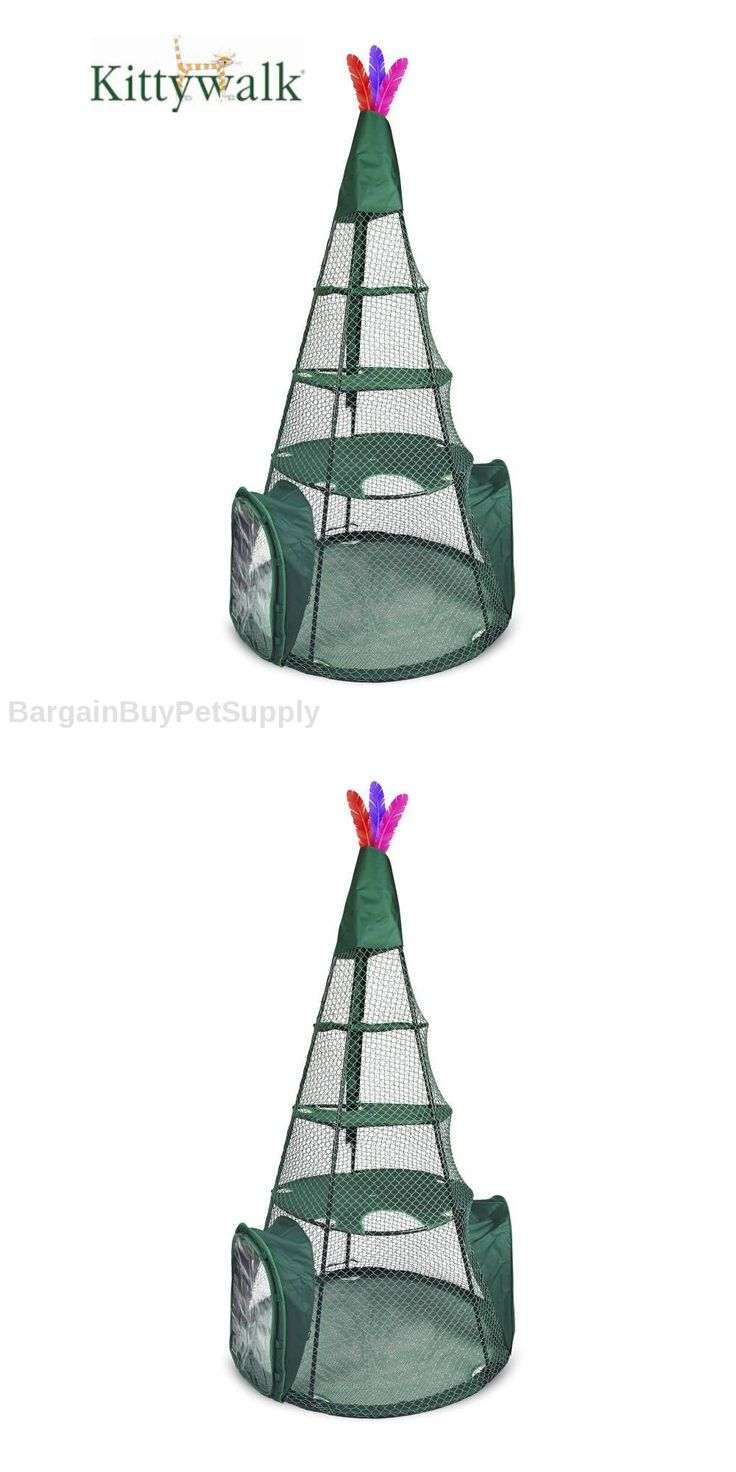Other Cat Supplies 1284: Kittywalk Cat Pet Teepee Outdoor Outside Cat Enclosure Enclosed Play Pen 6 Ft. -> BUY IT NOW ONLY: $439.95 on eBay!
