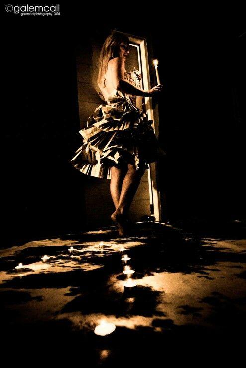 Magic paper dress