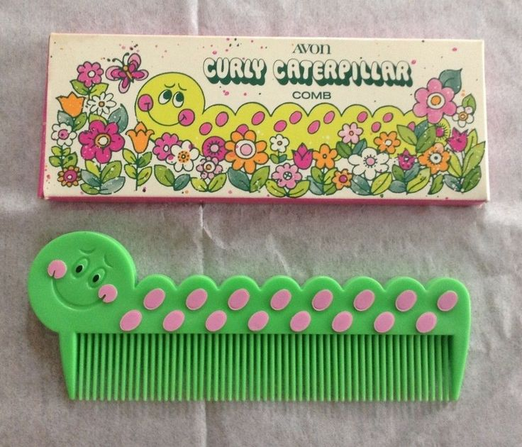 Vintage Avon Curly Caterpillar Comb - RARE - NEW IN BOX