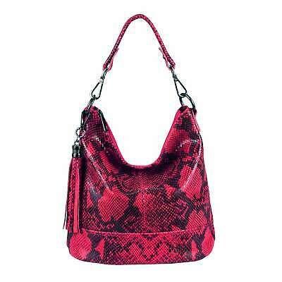 Photo of ITAL LADIES LEATHER BAG Shopper Shoulder Bag HOBO Bag Cross-Over Shoulder Bag …