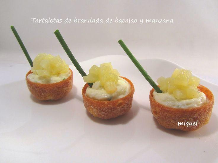 Les receptes del Miquel: Tartaletas de Brandada de Bacalao con manzana
