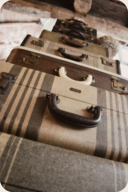 nice stack :)  {vintage, suitcases}