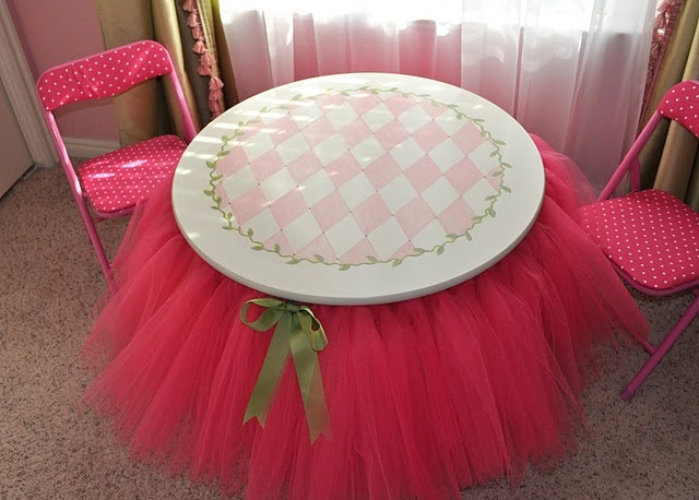 table with a tutu :)