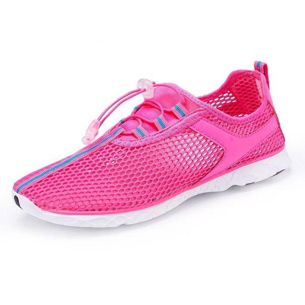 Women's Mesh Slip On Quick Drying Water Shoes - Red - CS184X7CQXI | Water  shoes women, Swim shoes, Water shoes for men
