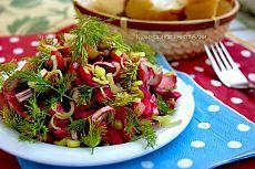 Салат с грибами, свеклой и ...(Вкусный... Не пожалеете...И без майонеза).
