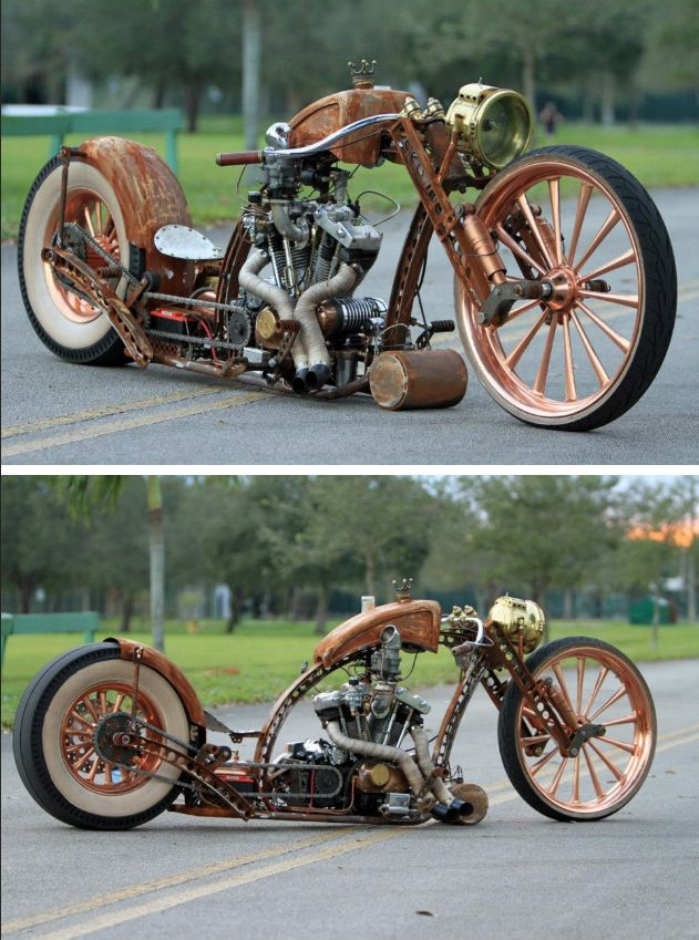 Steampunk Tendencies | Papa Pump by After Hours Bikes #Ratrod #Bike