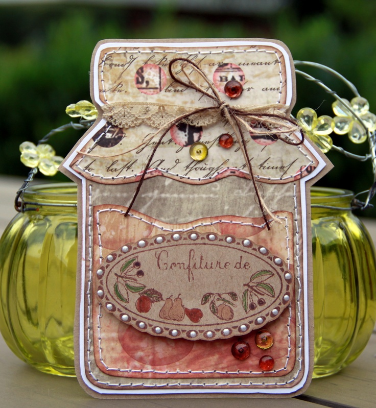 """Handmade card, made with Riddersholm Design Paper """"Apples & Flax"""""""