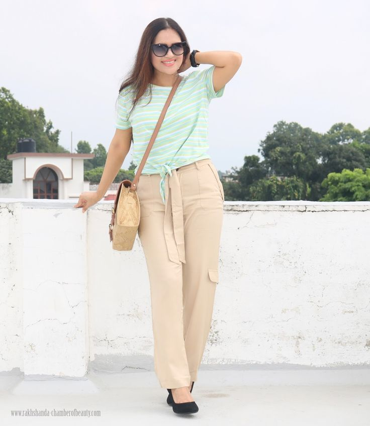 OOTD : Jogger Pants with Striped Tee | How To Style Jogger Pants Jogger pants are one of the latest trends to hit the runway and the streets and if you haven't already taken on this trend, it's time that you do... #fashion #howtostylejoggerpants #Indianfashionblogger