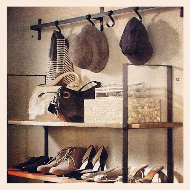 Dream closet. Shoe shelf. Hat rack.