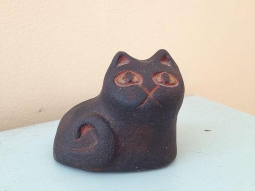THYSSEN KERAMIK DANMARK CERAMIC DENMARK POTTERY NUMBERED CAT SCULPTURE FIGURE | eBay