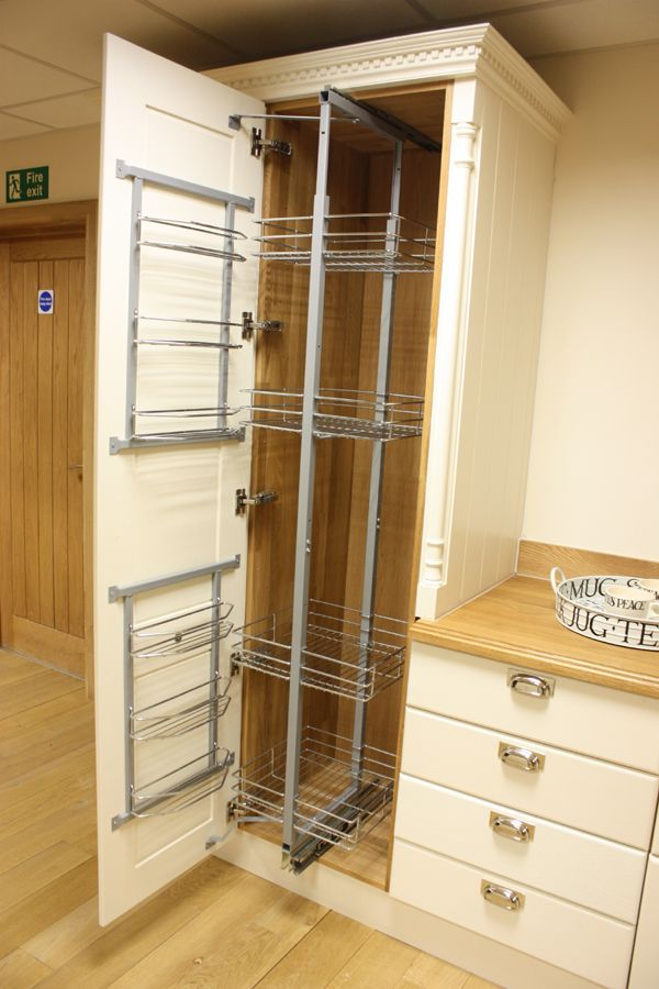 Our pull and swing pantry unit provides