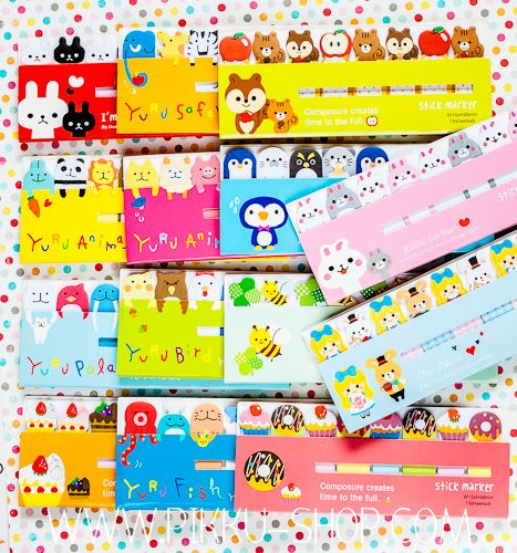 Cute Mini Marker Notes from Pikku Shop | www.pikku-shop.com | #stickynotes #kawaii #stationery