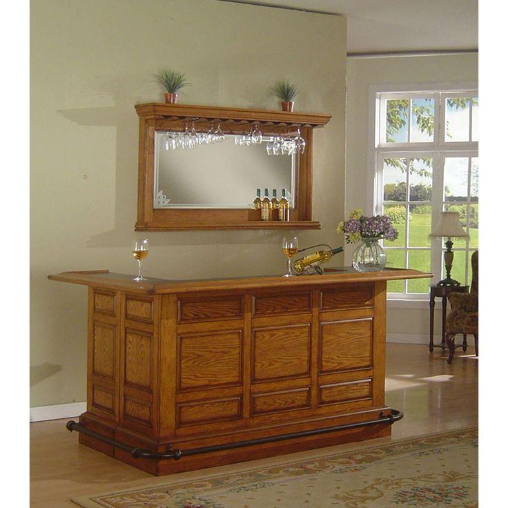 Home Bar Furniture Product: ECI Furniture Manchester Return Bar In Burnished Oak