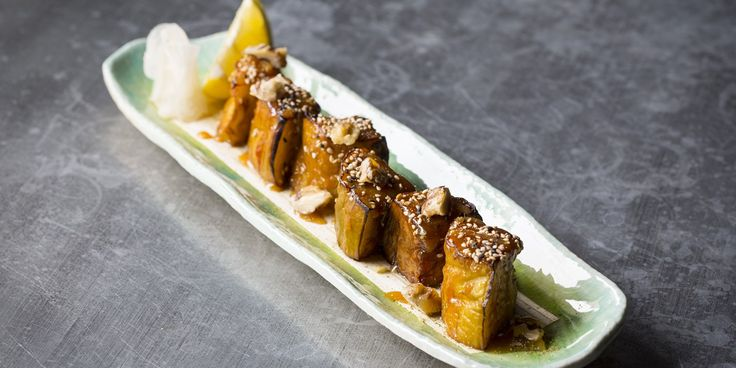 A delicious miso aubergine recipe by Scott Hallsworth, this Japanese side dish would also make a fantastic vegetarian dinner recipe when served alongside steamed white rice.