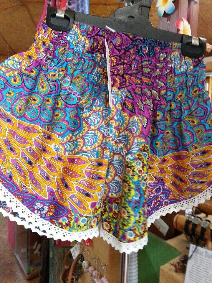 Lace-trim shorts free size 8-12