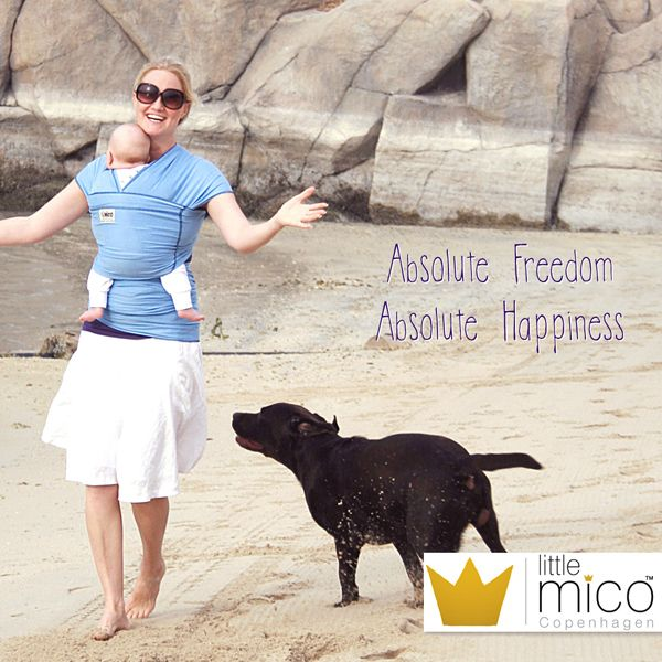Littlemico Baby Wrap Carrier. Fun under the Sun!