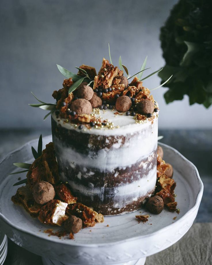 Triple Layer Pumpkin Chocolate Chip Cake from www.whatsgabycooking.com - the cake to END all cakes (@whatsgabycookin)
